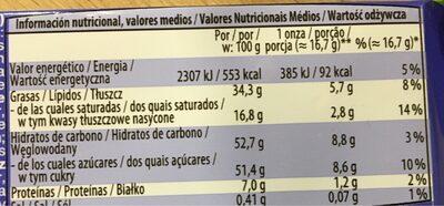 Hazelnut - Voedingswaarden - es