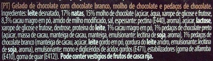 Triple Chocolate - Ingredientes