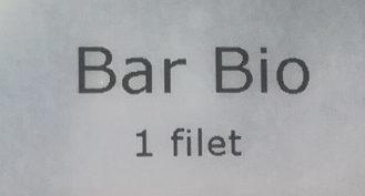 Filet de Bar Bio - Ingrédients