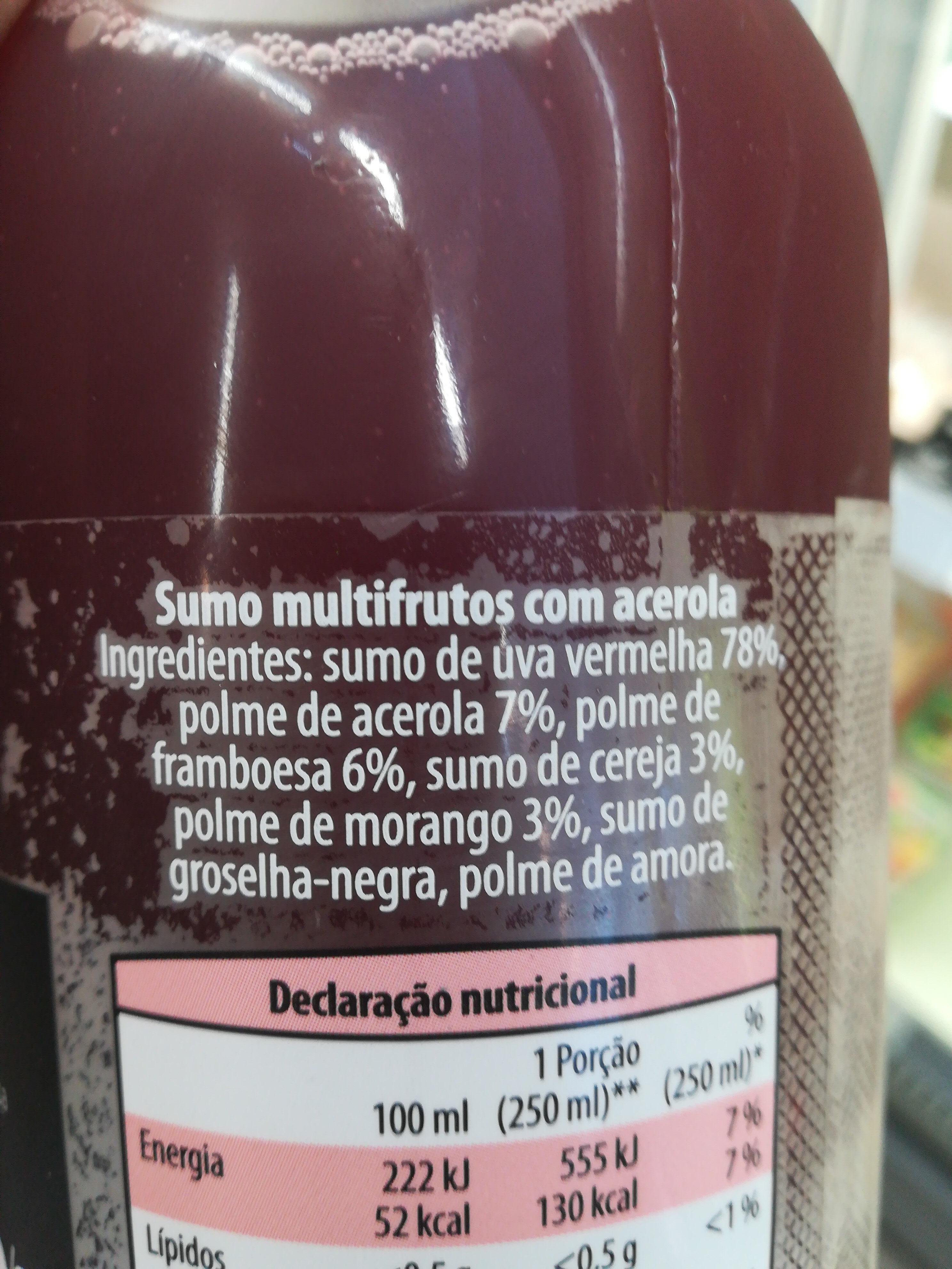 Super Frutos - Ingredientes - pt