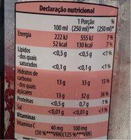 Super Frutos - Informação nutricional - pt