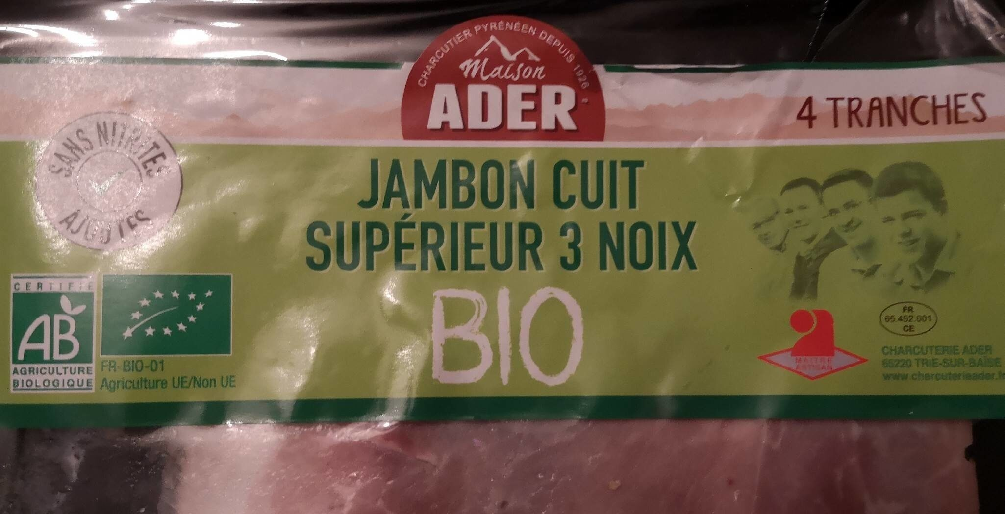 Jambon cuit supérieur 3 noix - Produkt