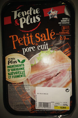Petit salé de porc cuit (2/3 personnes), ingrédients d'origine naturelle et ferments - Product - fr