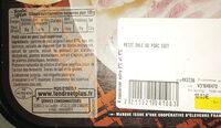 Petit salé de porc cuit (2/3 personnes), ingrédients d'origine naturelle et ferments - Ingredients - fr