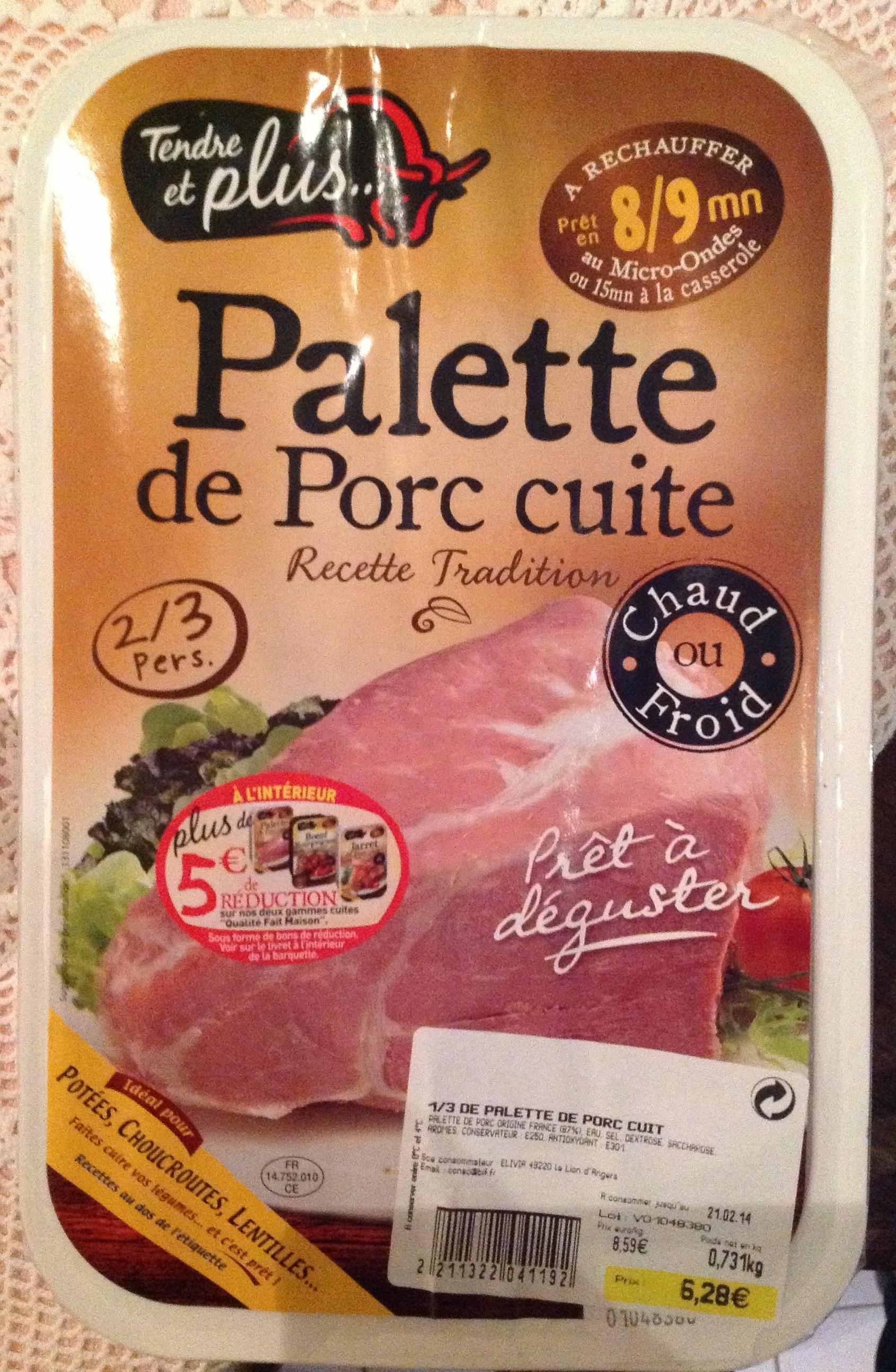 Palette de porc cuite tendre et plus 731 g - Cuisiner palette de porc ...