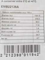 Rosette Pierre Bertrand - Informations nutritionnelles - fr