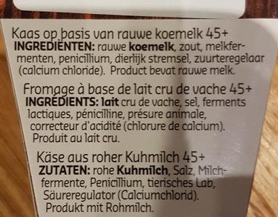 Brie de meaux - Ingrediënten
