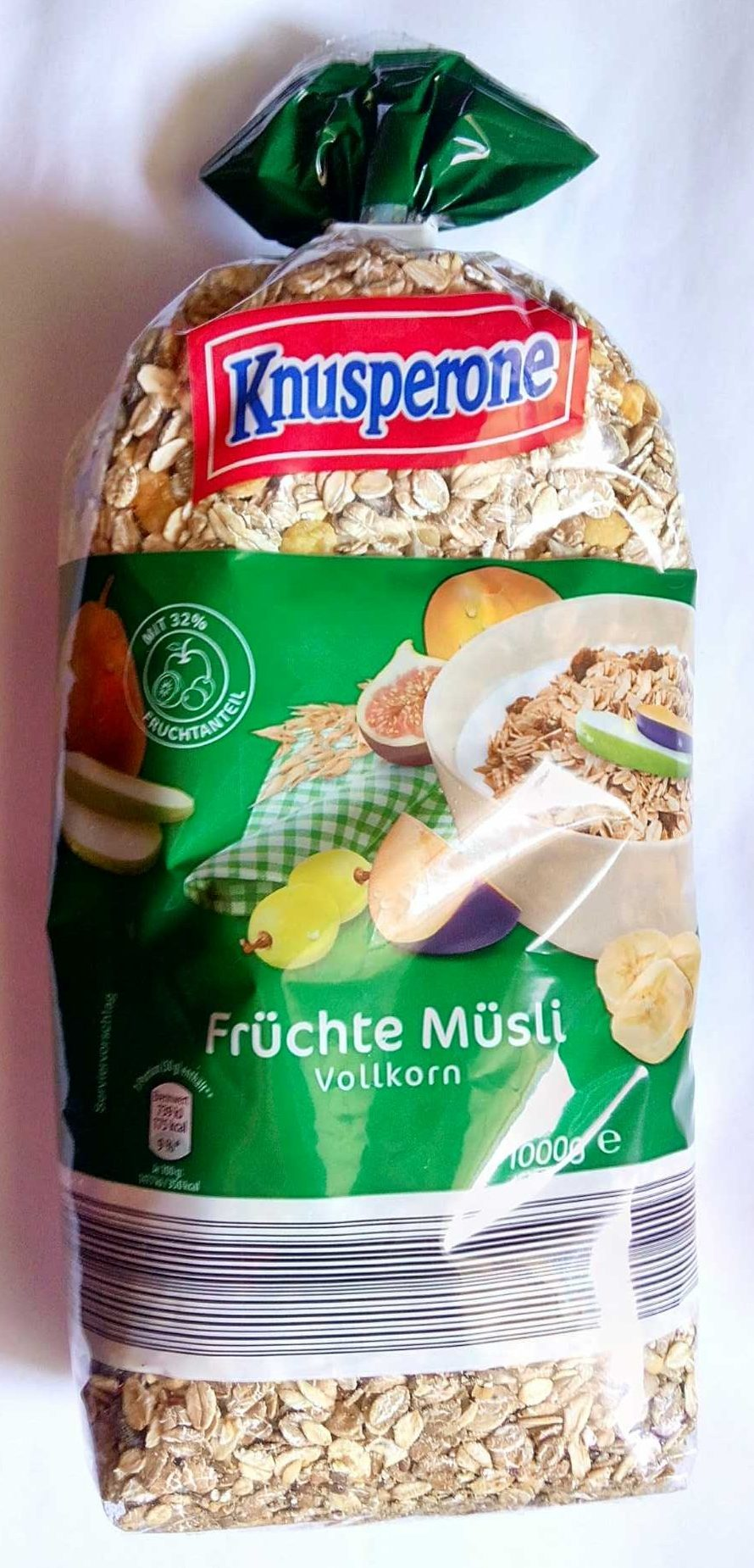 Früchtemüsli Vollkorn/Trauben-Nuss Müsli Vollkorn - Produit