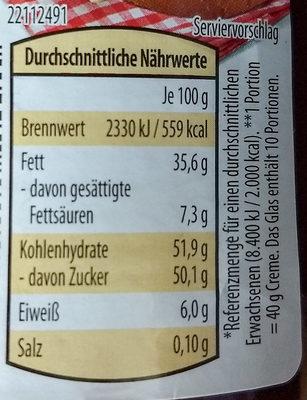 nutoka - Nutrition facts - de