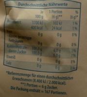 Fein Zucker - Voedingswaarden - de