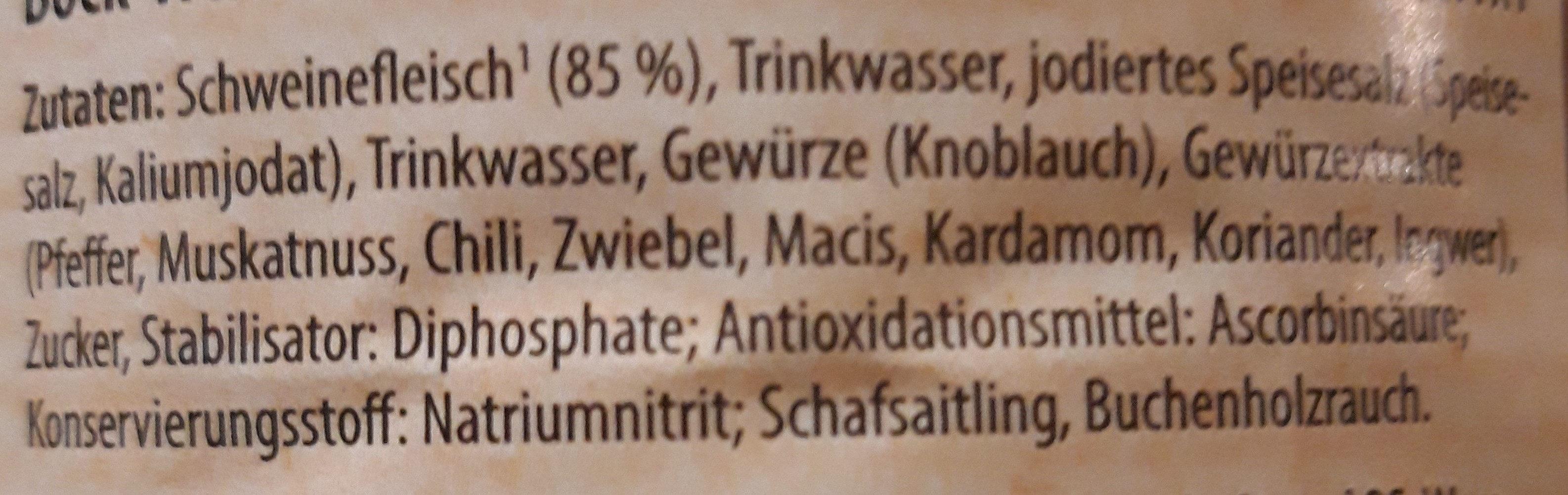 Bock-Würstchen - Ingrediënten - de