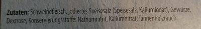 Schwarzwälder Schinken über Tannenholz Geräuchert - Ingredients - de
