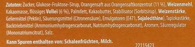 Jaffa Cake Orange - Ingrediënten