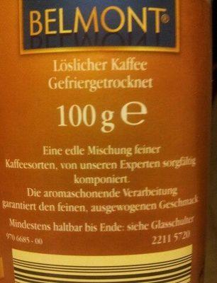 Gold Premium gefriergetrockneter Kaffee - Ingredients - de