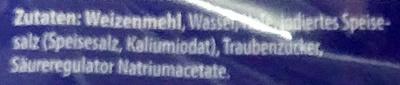 Baguettebrötchen - Inhaltsstoffe