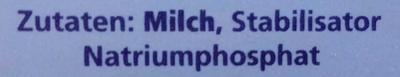 Kondensmilch - Inhaltsstoffe