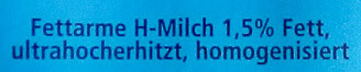 Fettarme H-Milch - Inhaltsstoffe