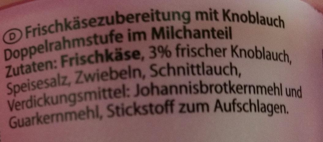 Frischkäse Knoblauch - Ingredients