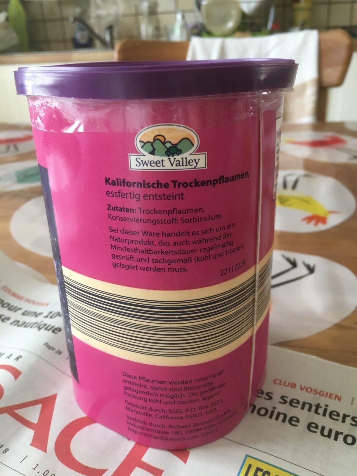 trockenpflaumen - Ingrédients