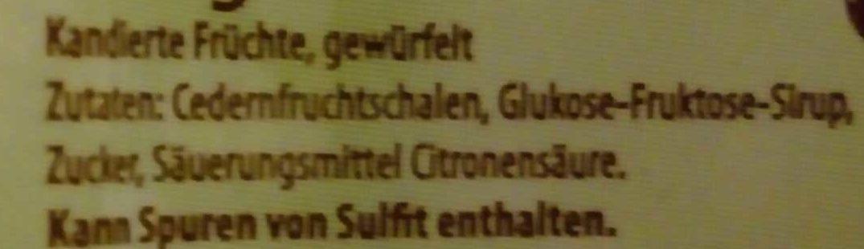 Citronat - Ingredients