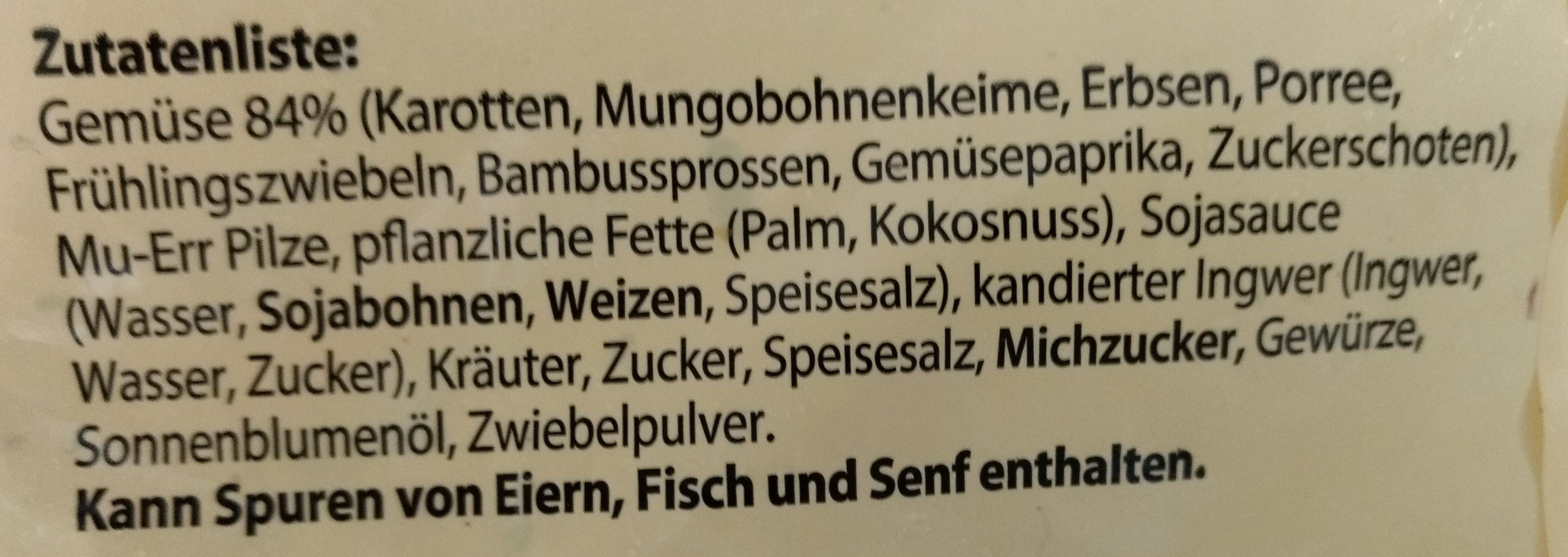 Feinschmecker art pfannengemüse - Ingredients - de