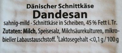 Caverna, Dänischer Schnittkäse - Ingrédients