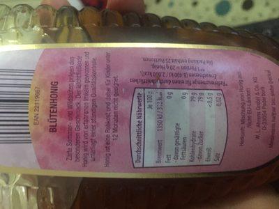 Blütenhonig, Honig - Inhaltsstoffe