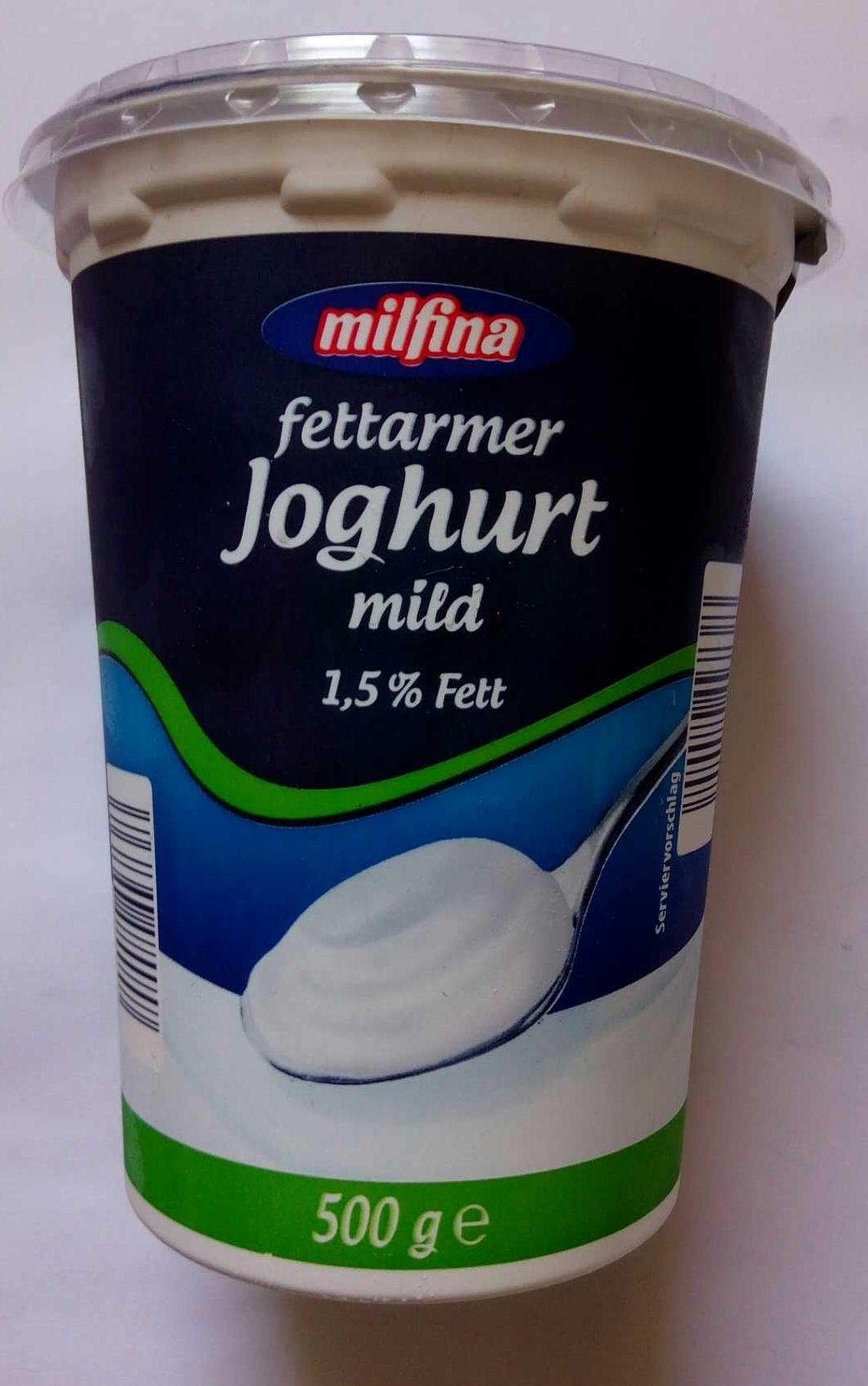 fettarmer joghurt mild 1 5 fett milfina 500 g. Black Bedroom Furniture Sets. Home Design Ideas