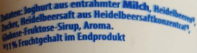 yaourt 0,1% myrtille - Zutaten