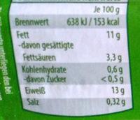 Eier - Informations nutritionnelles - de