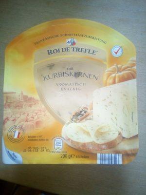 Französische Schnittkäsezubereitung mit Kürbiskernen - Produkt
