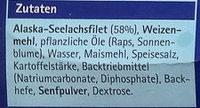 Knusperfilets Backteig - Inhaltsstoffe
