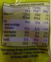 Ungeschwefelte Sultaninen - Nutrition facts - de