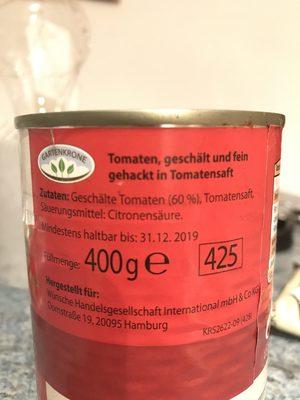 Tomaten (Dose) - Ingrédients - fr