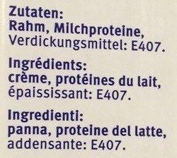 Crème entière UHT 500 ml - Ingrediënten