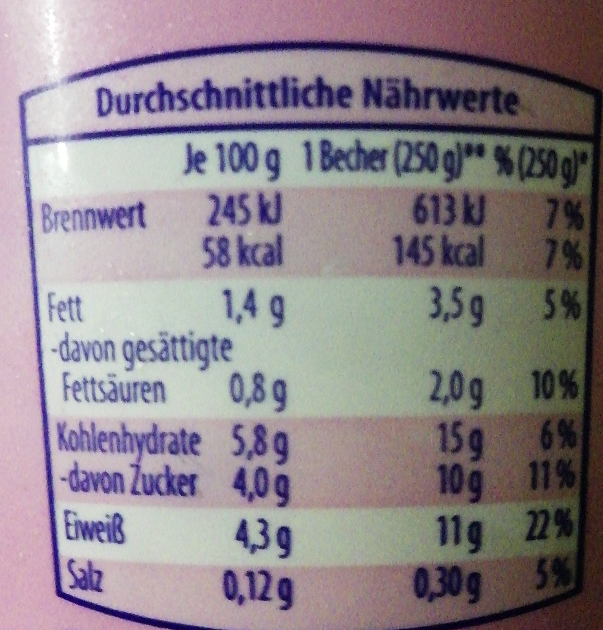 Leichter 4 Korn Joghurt mild, Bircher Müsli, +Weiz... - Informations nutritionnelles