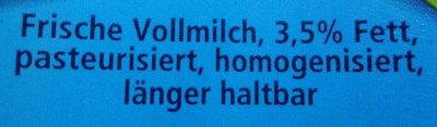 Frische Vollmilch 3,5% Fett - Zutaten - de