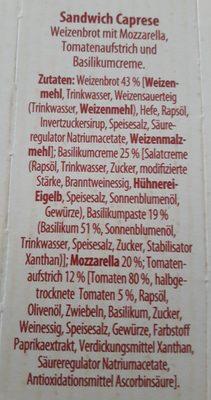 MAASDAMER-RUCOLA/ CAPRESE MIT MOZZARELLA - Inhaltsstoffe