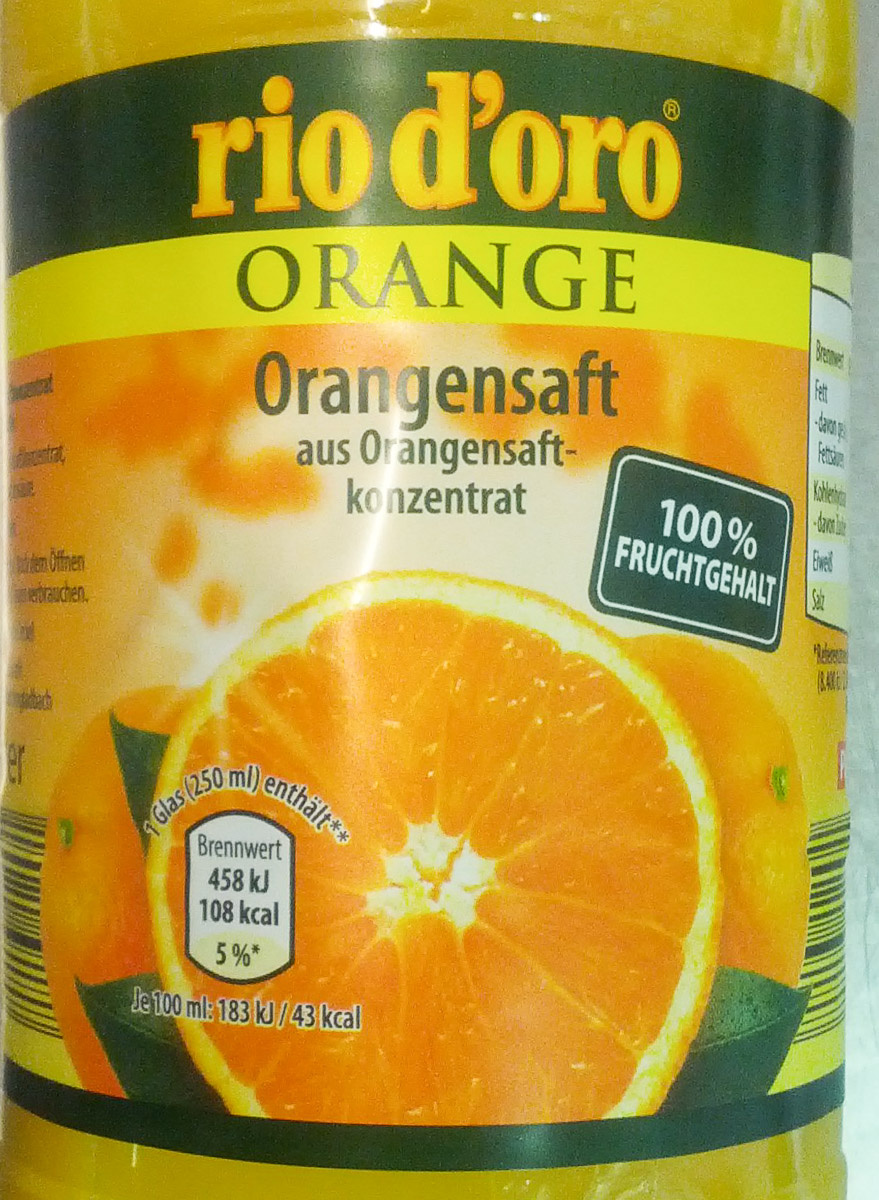 Orangensaft aus Orangensaftkonzentrat - Product - de