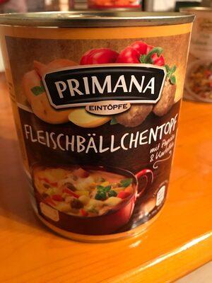 Primana Fleischbällchentopf mit grünen Bohnen - Produit