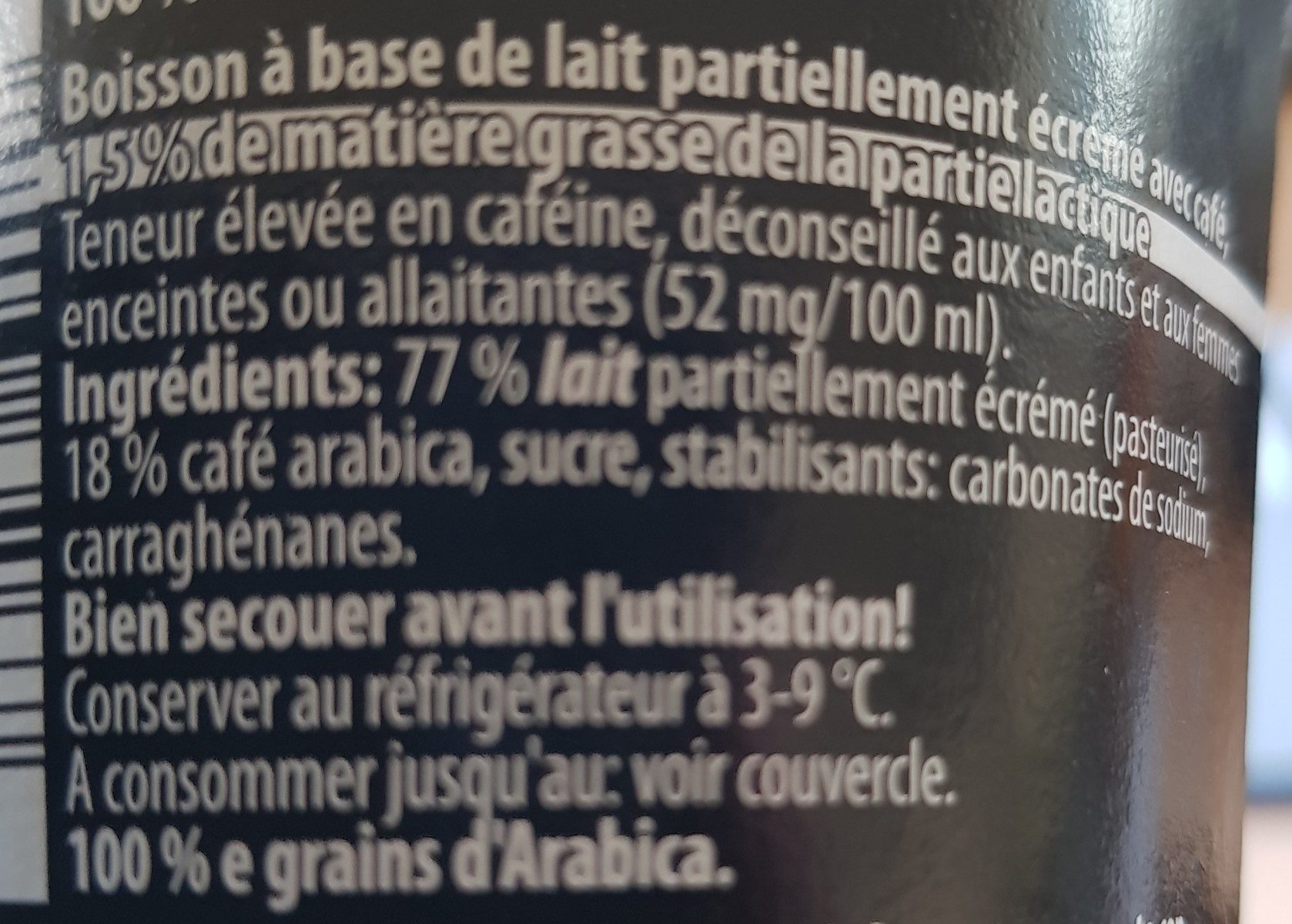 Latte espresso - Ingrédients - fr