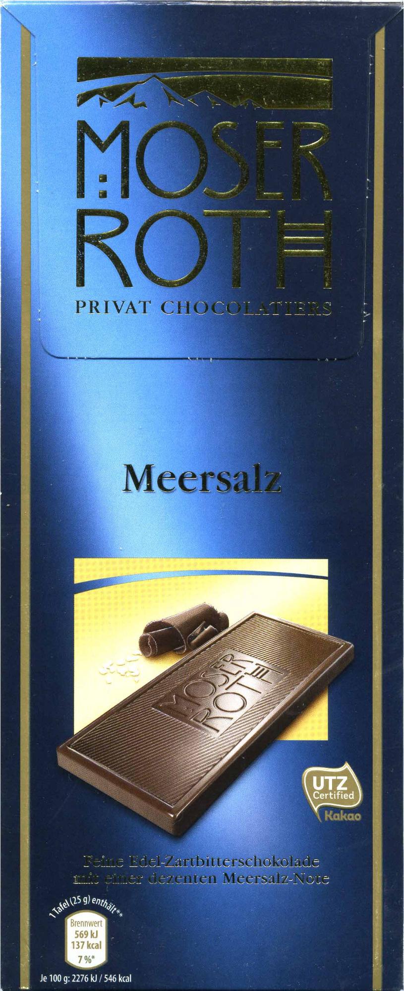 Zartbitter-Schokolade Meersalz 52 % Kakao - Producte - de