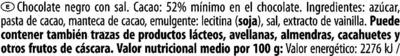 Zartbitter-Schokolade Meersalz 52 % Kakao - Ingredientes - es