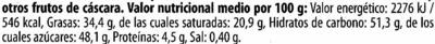 Zartbitter-Schokolade Meersalz 52 % Kakao - Información nutricional - es