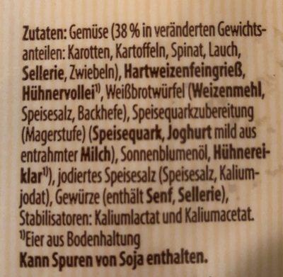Landvogt Gemüse Maultaschen - Ingredients - de
