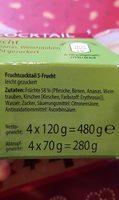 Fruchtcocktail - Inhaltsstoffe