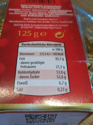 Mini Weihnachts-Figürchen - Informação nutricional - fr