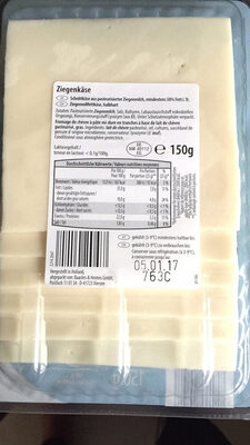 Ziegenkäse Bockshornkle - Nutrition facts