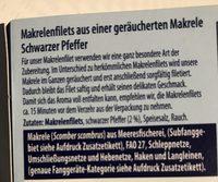 Geräucherte Makrelenfilets Pfeffer - Ingrédients - de
