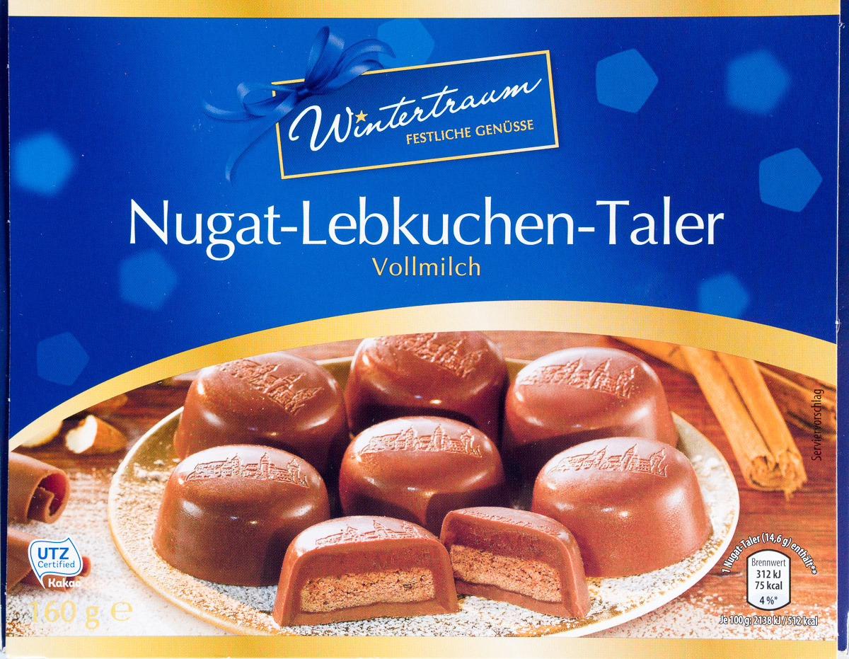 Nugat-Lebkuchen-Taler Vollmilch - Produkt
